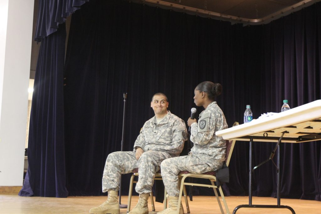"Soldiers learning to ""Ask First"" while engaged in a SHARP sponsored training conducted by Mike Domitrz."